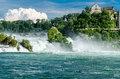 Rheinfall von schaffhausen the largest waterfall in europe Stock Photography