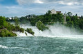 Rheinfall von schaffhausen the largest waterfall in europe Stock Photo