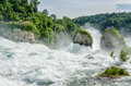 Rheinfall von schaffhausen the largest waterfall in europe Royalty Free Stock Photos