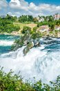 Rheinfall waterfall of the river rhein in swiss Royalty Free Stock Photo
