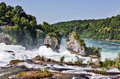 Rhine falls largest plain waterfall europe Royalty Free Stock Images