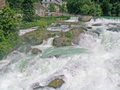 Rhine falls the is the largest plain waterfall in europe the are located on the high between the municipalities of Stock Photo