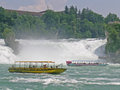 Rhine falls the is the largest plain waterfall in europe the are located on the high between the municipalities of Royalty Free Stock Photography
