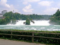 Rhine falls the is the largest plain waterfall in europe the are located on the high between the municipalities of Royalty Free Stock Photo