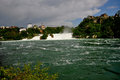 Rhine falls or rheinfall is the largest waterfall in europe located near schaffhausen on the border of germany and switzerland Royalty Free Stock Photos