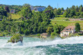 Rhine Falls in summertime Royalty Free Stock Photo