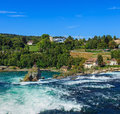 The Rhine Falls in Switzerland in summertime Royalty Free Stock Photo