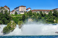 Rhine Falls waterfall in summertime Royalty Free Stock Photo