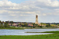 Rhine river the lower at rhenen the netherlands Royalty Free Stock Image