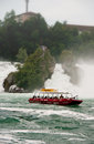 Rhinefalls or rheinfall famous cascading waterfall popular touristic destination of schaffhausen switzerland Stock Photo