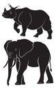 Rhino elephant Royalty Free Stock Photo