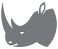 Rhino head design symbol Stock Image