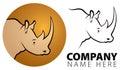 Rhino Logo Royalty Free Stock Photo