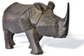 Rhino the wood carving of comes from nepal Royalty Free Stock Images