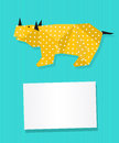 Rhinoceros card Stock Photos