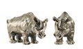Rhinoceros rhino sculpture isolated Royalty Free Stock Photo