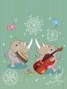 Rhinos Music_eps Royalty Free Stock Photo