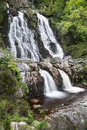 Rhiwargor waterfall landscape in snowdonia national park during falls north wales Royalty Free Stock Photography