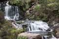 Rhiwargor waterfall landscape in snowdonia national park during falls north wales Stock Photos