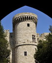 Rhodes castle turret Royalty Free Stock Photo