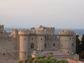 Rhodes castle view of the in island greece Royalty Free Stock Photos