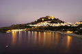Rhodes Island, Lindos bay  Greece Royalty Free Stock Photo