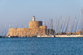 Rhodes Landmark Mandraki Port Stock Photography