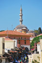 Rhodes landmark suleiman mosque greece old town Royalty Free Stock Photo