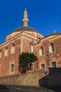 Rhodes landmark suleiman mosque in the old town of greece Stock Photo