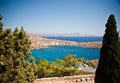 Rhodes, Lindos bay Stock Photo
