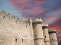 Rhodes medieval knights castle palace greece island a symbol of of the famous grand master also known as castello in the town of Stock Image