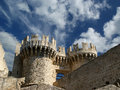 Rhodes medieval knights castle palace greece island a symbol of of the famous grand master also known as castello in the town of Stock Photo