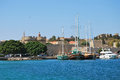 Rhodes panorama of old town greece historical part Stock Photography