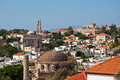 Rhodes panorama of old town greece historical part Stock Photo
