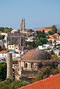Rhodes panorama of old town greece historical part Stock Photos