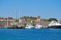 Rhodes. Panorama of old town Royalty Free Stock Photo