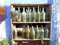 Rhodes ta very old bottles wine Royalty Free Stock Photo