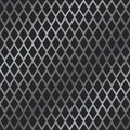 Rhomb metal grill Royalty Free Stock Photo