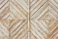 Rhomb pattern of the old weathered white painted wooden gate Royalty Free Stock Images