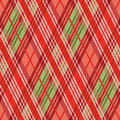 Rhombic seamless pattern mainly in red hues vector as a tartan plaid Stock Images