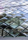 Rhomboid grid glass building in tokyo japan Royalty Free Stock Photography
