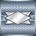Rhombus metal frame