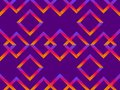 Rhombus seamless pattern with orange-purple blurred gradient. Abstract geometric background. Vector