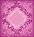 Rhombus_violet background. Stock Image