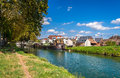 Rhone – rhine canal in alsace france Royalty Free Stock Photography