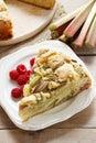 Rhubarb cake summer party dessert Royalty Free Stock Photo