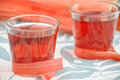 Rhubarb juice in a glass home made Royalty Free Stock Photography