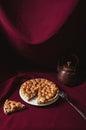 Rhubarb and meringue pie Royalty Free Stock Photo