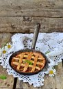 Rhubarb pie Royalty Free Stock Photo