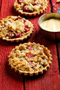 Rhubard crumble tarts Royalty Free Stock Photo